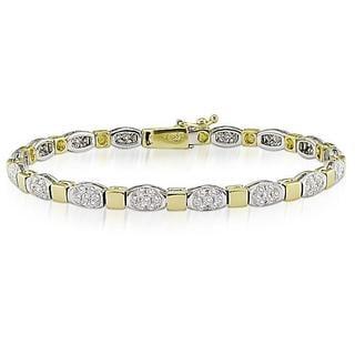 Miadora Signature Collection 18k Two-tone Gold 2 1/2ct TDW Diamond Bracelet (G-H, SI1-SI2)