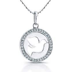 Victoria Kay Sterling Silver 1/8ct TDW Diamond Dove Necklace|https://ak1.ostkcdn.com/images/products/5457770/Sterling-Silver-1-8ct-TDW-Diamond-Dove-Necklace-J-I2-I3-P13247557.jpg?impolicy=medium