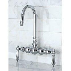 Deck-mount Chrome Clawfoot Tub Faucet