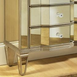 Mirrored Three-Drawer Accent Chest - Thumbnail 2