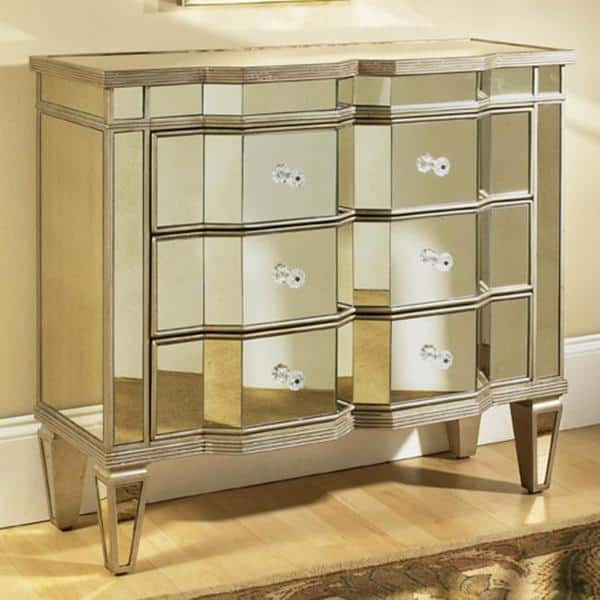 Mirrored 3 Drawer Accent Chest Overstock 5457851