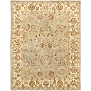 Safavieh Handmade Heritage Traditional Oushak Light Green/Beige Wool Rug (12' x 18')