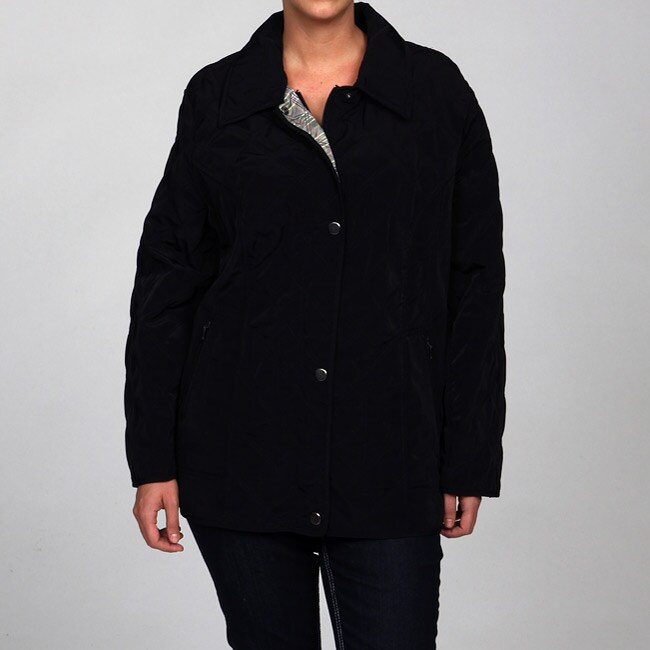 Women's Plus Size Faux Silk Jacket
