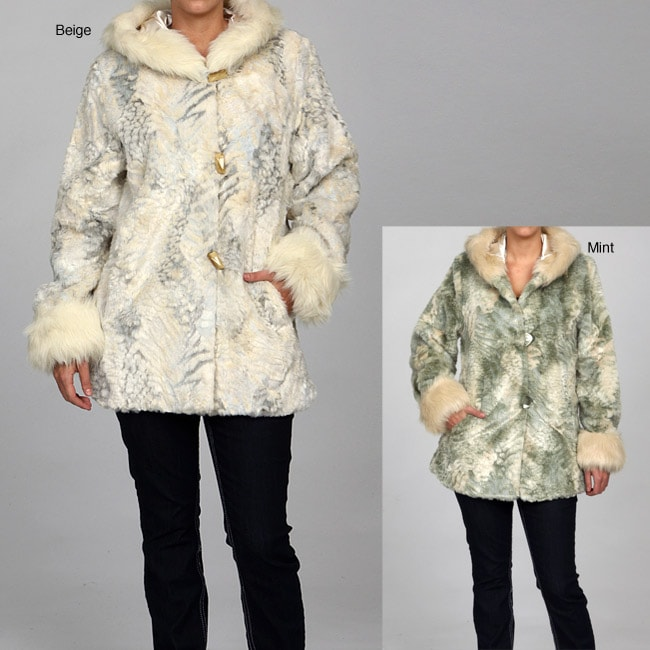 Women's Faux Fur Hooded Coat