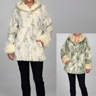 Women's Faux Fur Hooded Coat