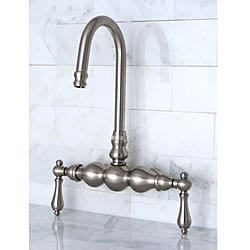 Deck-mount Dark Satin Nickel Clawfoot Tub Faucet