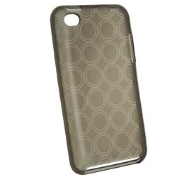 Clear Smoke Circle TPU Rubber Case for Apple iPod Touch - Thumbnail 1