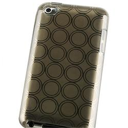 Clear Smoke Circle TPU Rubber Case for Apple iPod Touch - Thumbnail 2