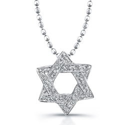 Sterling Silver Diamond Accent Star Necklace