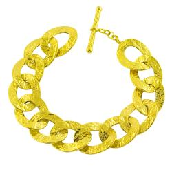 Fremada 14k Yellow Gold Etruscan Contempo 8-inch Bracelet