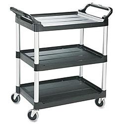 Rubbermaid Economy 3-shelf Black Plastic Cart