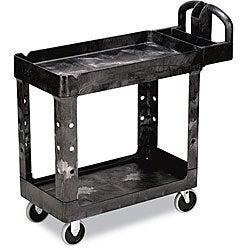 Rubbermaid Commercial Heavy-Duty 2-Shelf Utility Cart
