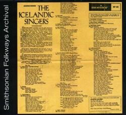 Icelandic Singers - The Icelandic Singers
