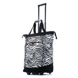 Olympia Sports Plus Pattern 20-inch Rolling Shopper Tote