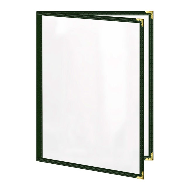 Double-pocket Green Deluxe Sewn Edge 8.5x14-inch Menu Covers (Pack of 24)