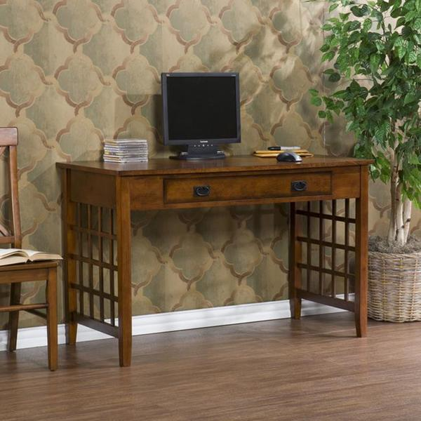 Mahogany Computer Desk Free Shipping Today Overstock