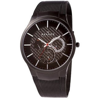 Skagen Men's Black Titanium Multifunction Mesh Watch