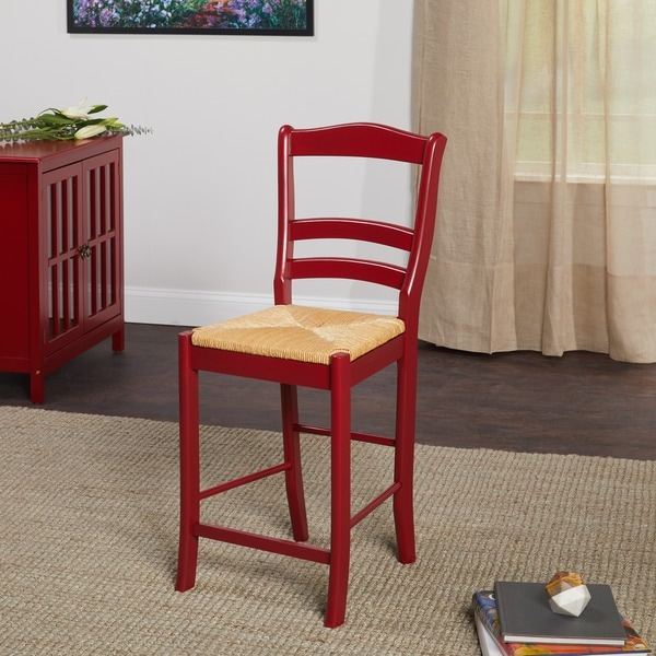 Shop Simple Living Parker Red 24 Inch Stool Free