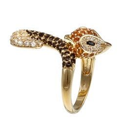 Meredith Leigh Sterling Silver Multi-gemstone 'Critters' Fox Ring - Thumbnail 1