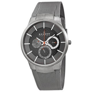 Skagen Men's Grey Titanium Multifunction Mesh Watch