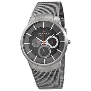 Skagen Men's Grey Titanium Multifunction Mesh Watch https://ak1.ostkcdn.com/images/products/5472680/P13260904.jpg?impolicy=medium