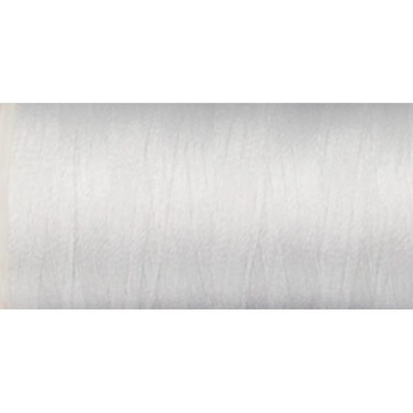 White Melrose-polyester Machine Embroidery Thread 600-yard Spool