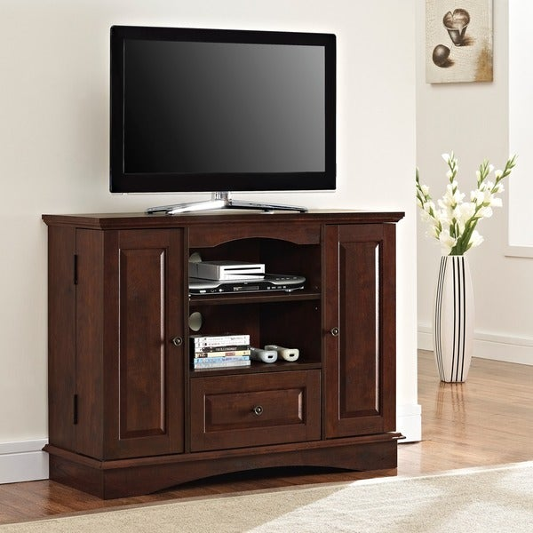 Brown Wood 42 Inch Highboy Tv Stand Free Shipping Today