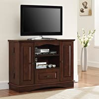Walker Edison Brown Wood 42-inch Highboy TV Stand
