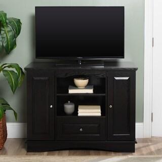 Black Highboy 42-inch Wood TV Stand
