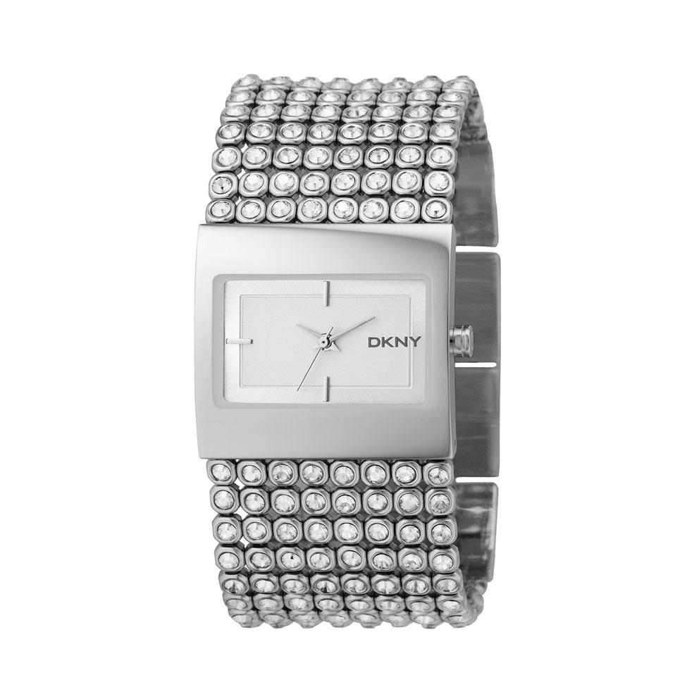 Dkny Väska Accent : Dkny women s crystal accent stainless steel watch free