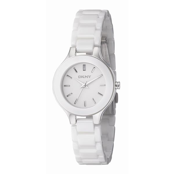 DKNY Women's White Ceramic Bracelet Quartz Watch