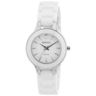 DKNY Women's White Ceramic Bracelet Quartz Watch|https://ak1.ostkcdn.com/images/products/5473077/P13261216.jpg?impolicy=medium