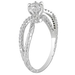 Miadora 14k White Gold 5/8ct TDW Diamond Ring (G-H, I1-I2) - Thumbnail 1