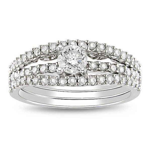 Miadora Signature Collection 14k White Gold 7/8ct TDW Diamond Ring (G-H, I1-I2)