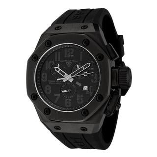 Swiss Legend Men's Trimix Diver Black Silicone Chronograph Watch