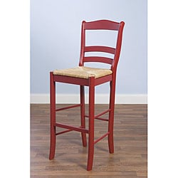 Simple Living Parker Red 30-inch Bar Stool