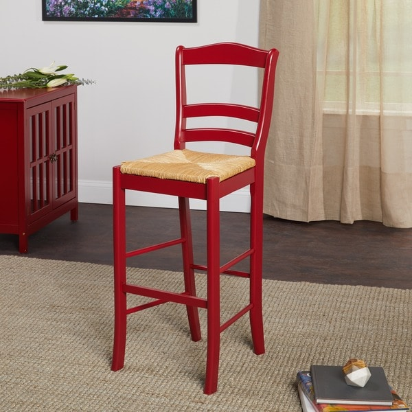 Simple Living Parker Red 30 Inch Bar Stool