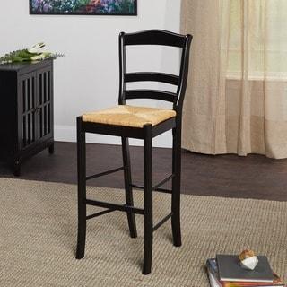 Simple Living Parker Black 30-inch Bar Stool