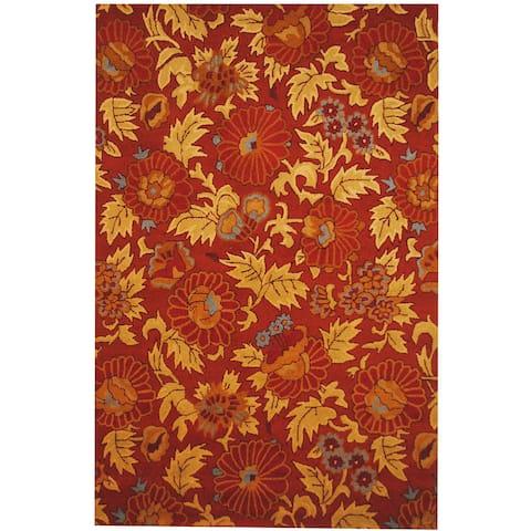 Handmade Tibetan Wool Rug (India) - 6'6 x 10'