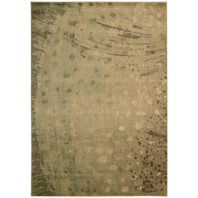 Nourison Monaco Yellow Abstract Rug - 7'9 x 10'10