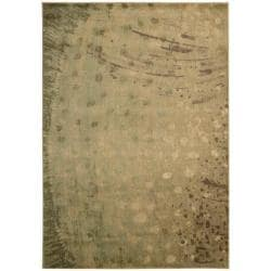 Nourison Monaco Yellow Abstract Rug - 7'9 x 10'10 - Thumbnail 0