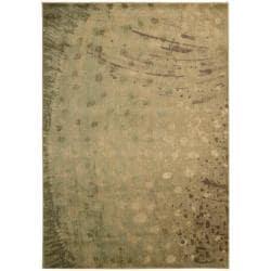 Nourison Monaco Yellow Abstract Rug (5'3 x 7'5)