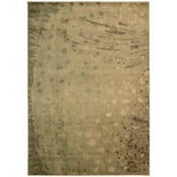 Nourison Monaco Yellow Abstract Rug - 5'3 x 7'5