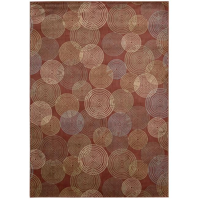 Nourison Monaco Red Abstract Rug - 7'9 x 10'10