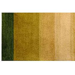 Herat Oriental Indo Hand-tufted Tibetan Wool Rug (4' x 6') - Thumbnail 2