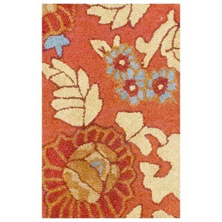 Herat Oriental Indo Hand-tufted Tibetan Wool Rug - 1'9 x 2'6