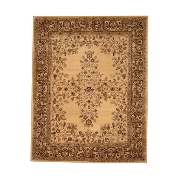 Hand-tufted Indo Beige/ Brown Wool Rug (8' x 10')