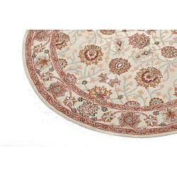 Hand-tufted Indo Beige Wool Rug (6' Round) - Thumbnail 2