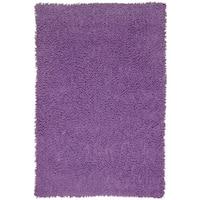 Hand-loomed Purple Chenille Shag Rug (2'6 x 4'2)