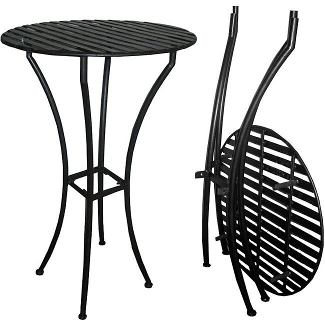 Easy To Assemble Iron Bar Table Black Free Shipping